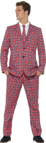Union Jack UK Swinging 60s London Men's British Suit