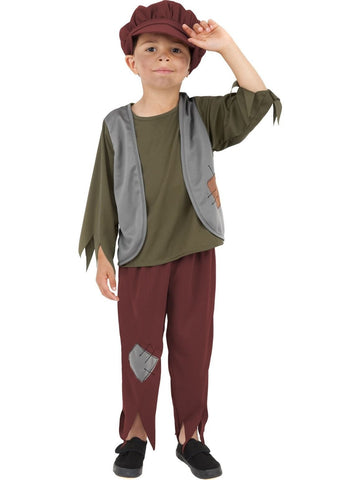 Victorian Poor Boy Children's Costume Peasant Kid's Fancy Dress Outfit