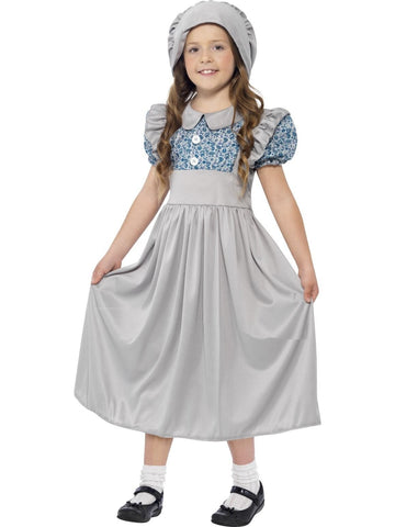 Historical Victorian School Girl Costume Fancy Dress Party Book Week Outfit