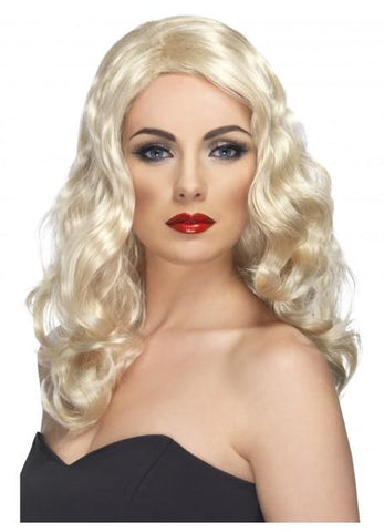 Wig Glamorous Movie Star Blonde