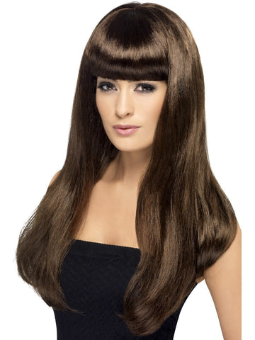 Wig Women's Long Straight Brown Babelicious Wig with Fringe