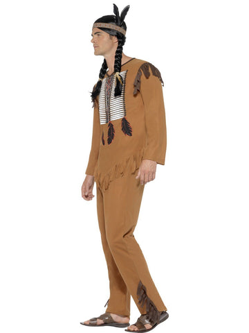 Wild West Native American Indian Warrior Adult Costume Side