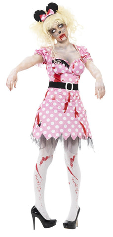 Zombie Rodent Halloween Mouse Women's Costume