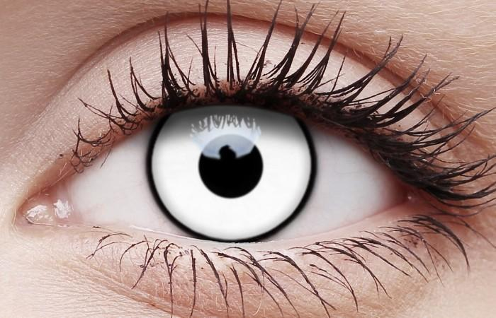 Zombie White Out Contact Lenses Halloween Eye Contacts – Disguises