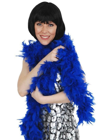 Accessories - Feather Boa Royal Blue