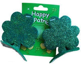 Accessories - Hair Clips Shamrock Glitter