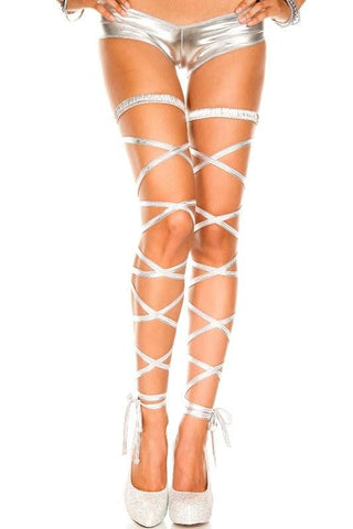 Accessories - Leg Wraps Metallic Silver