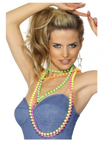 Costume Jewellery - Beads 80s Neon Fluoro Pearls