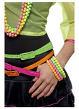 Costume Jewellery - Bracelets 80s Neon Fluoro Beaded