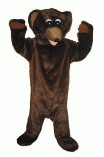 Costumes - Bear Brown Adult Mascot Hire Costume