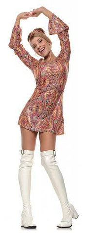 Costumes - Boots Over Knee White Womens