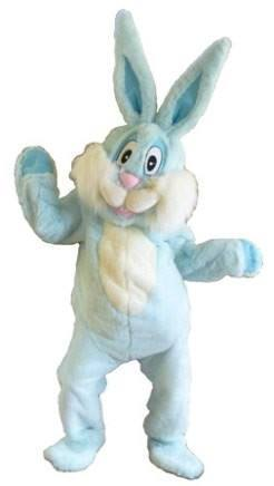 Bunny Blue Adult Mascot Hire Costume