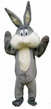 Bunny Grey Adult Mascot Hire Costume