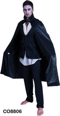Costumes - Cape Black Satin With Collar