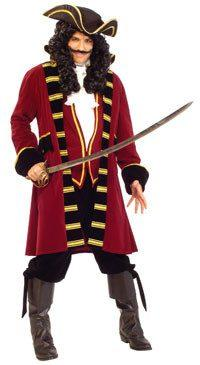 Costumes - Captain Hook Super Deluxe Mens Hire Costume