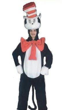 Cat in the Hat Adult Hire Costume