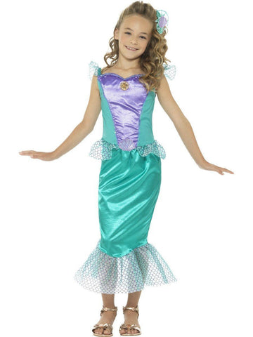 Deluxe Little Mermaid Princess Girls and Tween Size Costume