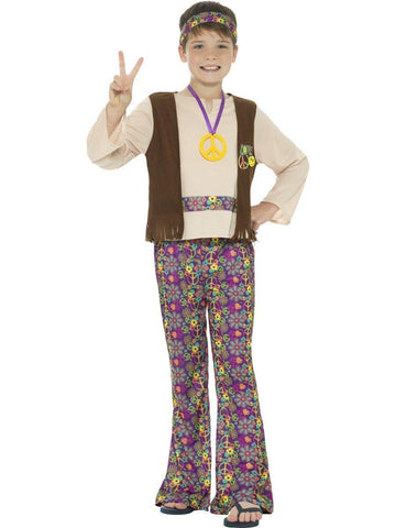 Hippie Boy 60s 70s Retro Fancy Dress Costume