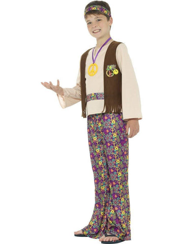 Hippie Boy 60s 70s Retro Fancy Dress Costume profile