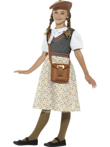 Old Fashion Wartime School Girl Book Week Character Costume profile