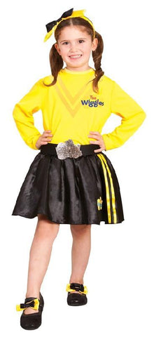 The Wiggles Emma Licensed Yellow Dress Up Toddler Girls Complete Costume