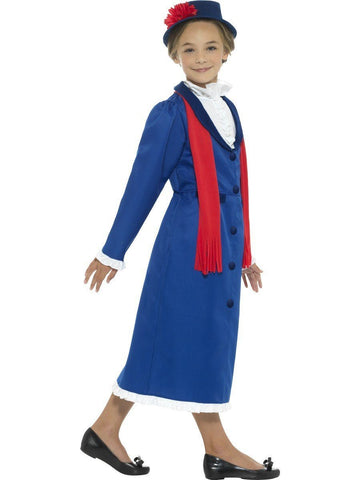 Victorian Nanny Girls Mary Poppins Book Week Character Costume profile