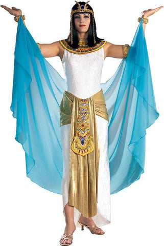 Costumes - Cleopatra White And Blue Womens Costume