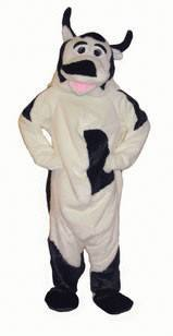 Costumes - Cow Closed Face Adult Mascot Costume