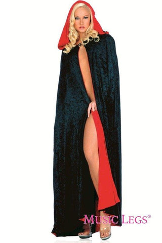 Costumes - Deluxe Reversible Hooded Velvet Cape For Sale