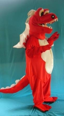 Dragon Red Adult Mascot Hire Costume