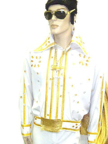 Costumes - Elvis White and Gold Hire Costume