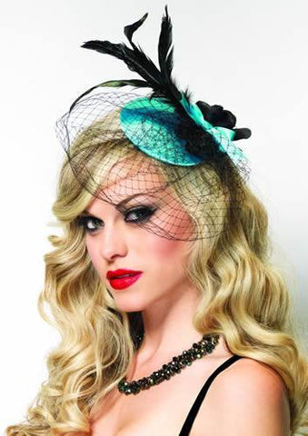 Costumes - Fascinator Blue Womens Costume Accessory