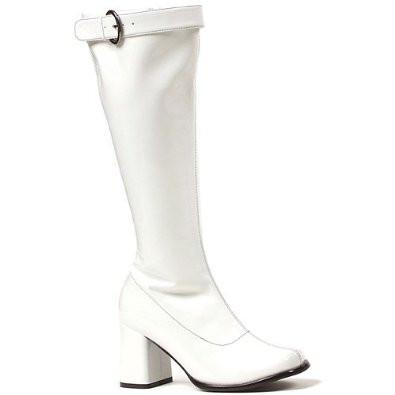 Boots Gogo Wide Calf White Hire