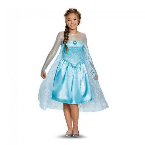 Frozen Elsa Tween Girls Disney Costume Fancy Dress Party Outfit