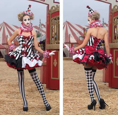 Costumes - Harlequin Clown Womens Costume Limited Edition 2012