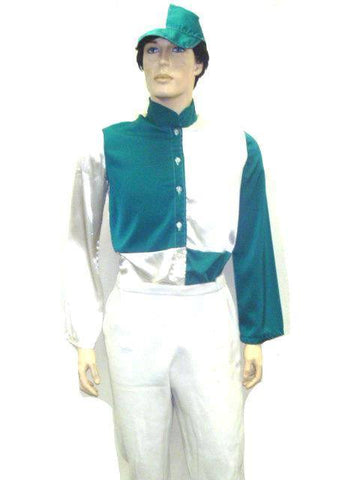 Costumes - Jockey Green And White Mens Costume