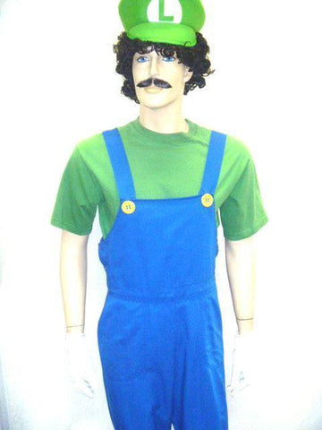 Luigi Men's Hire Costume