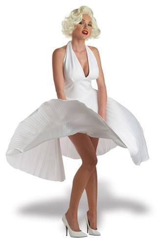 White 1950s Hollywood Movie Star Womens Hire Costume