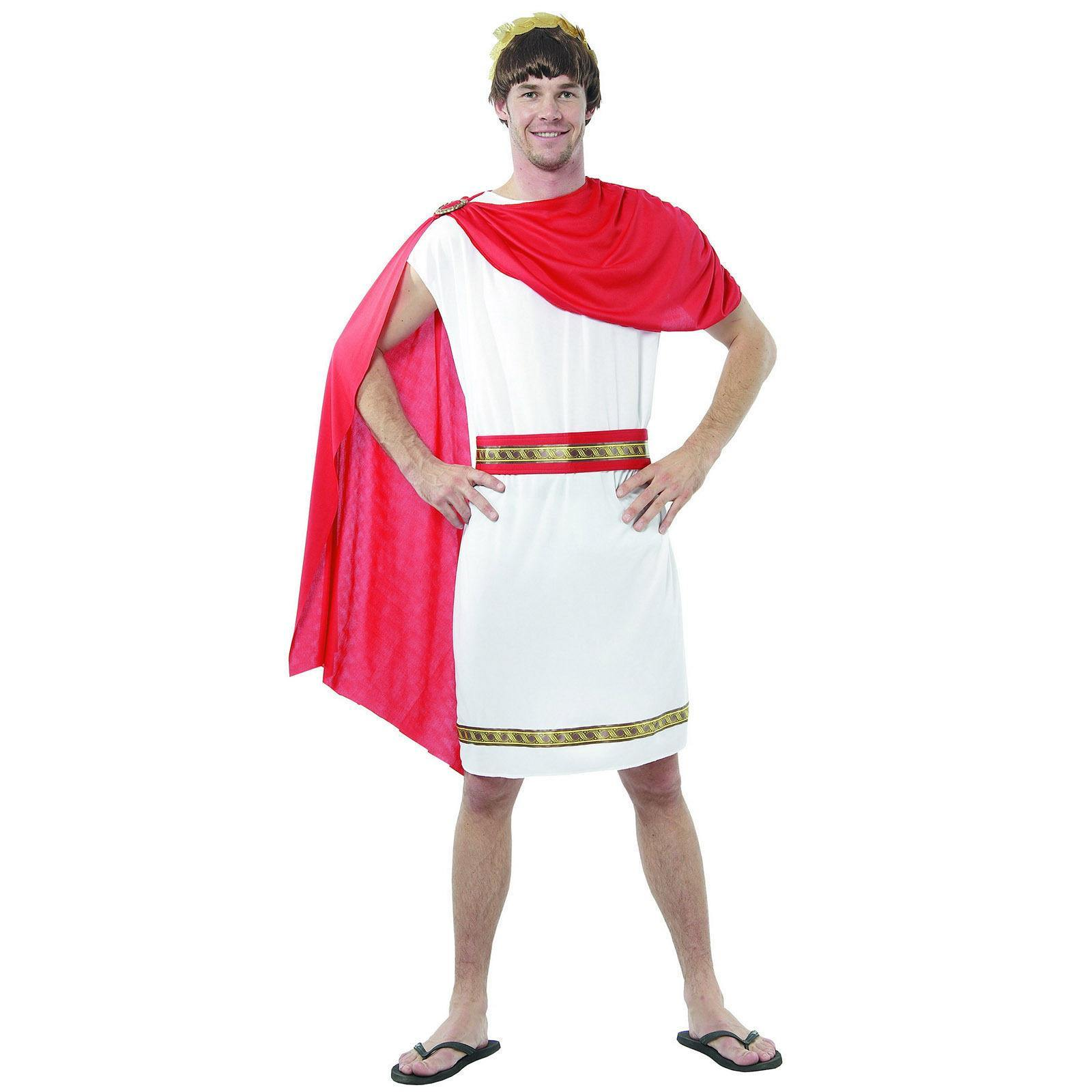 mens roman greek toga halloween party caesar fancy dress costume