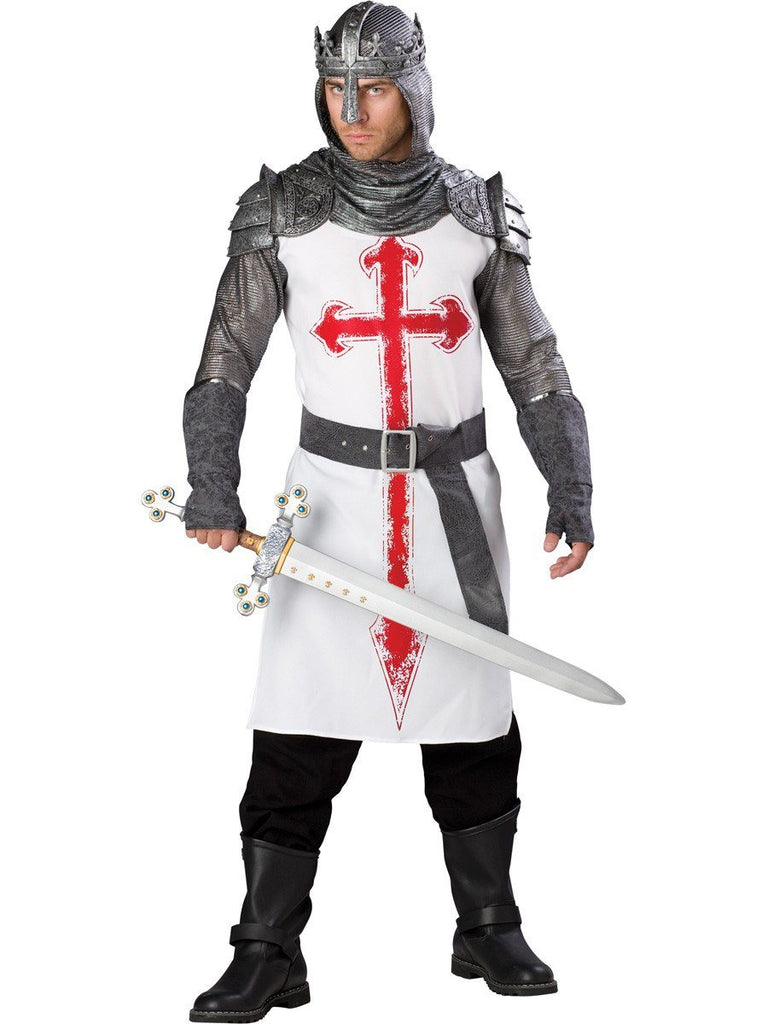 Crusader Medieval Knight Adult Hire Costume – Disguises Costumes Hire &  Sales