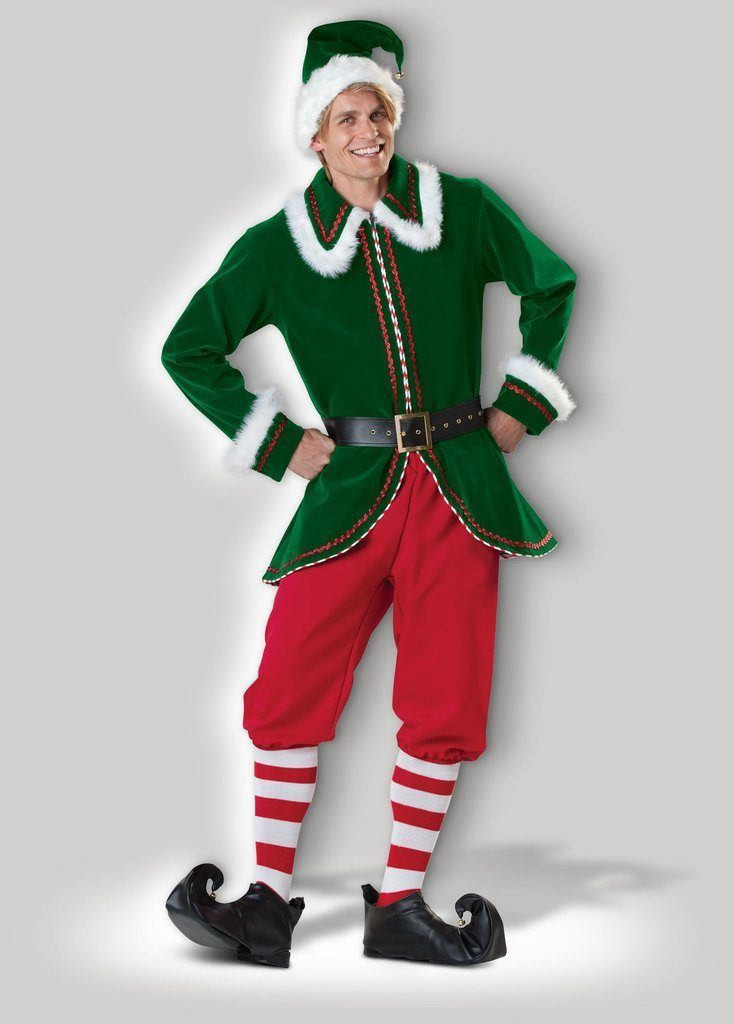 Christmas In July Ladies Outfits.Elf Christmas Candy Cane Mens Santa S Helper Hire Costume