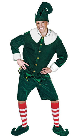 Costumes Men - Elf Holly Jolly Adult Hire Costume
