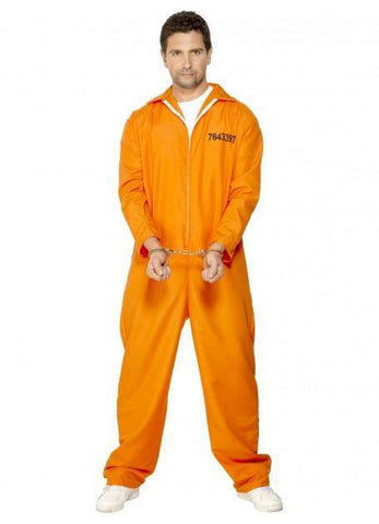 Costumes Men - Escaped Prisoner Orange Jumpsuit Adult Costume