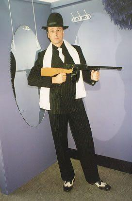 Costumes Men - Gangster Double Breasted Mens Costume For Hire