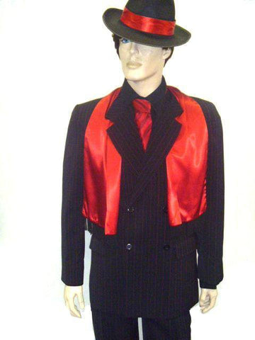 Costumes Men - Gangster Red Pin Stripe Mens Costume