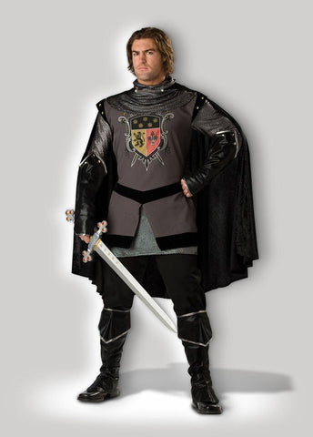 Medieval Dark Knight Mens Hire Costume