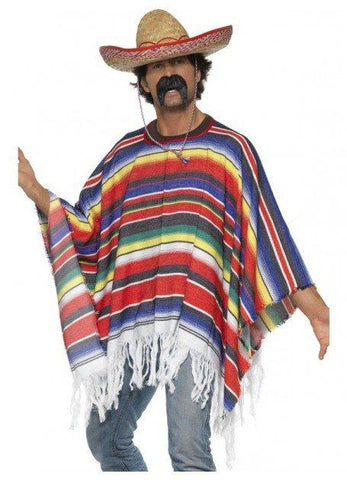 Costumes Men - Mexican Poncho Colourful Adult Costume