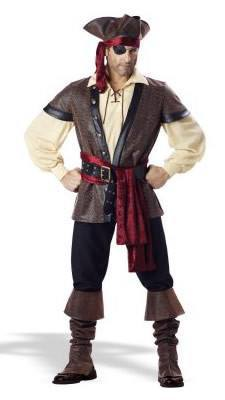 Costumes Men - Pirate Rustic Mens Costume
