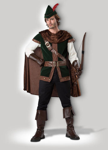 Robin Hood Sherwood Archer Hero Mens' Medieval Hire Costume