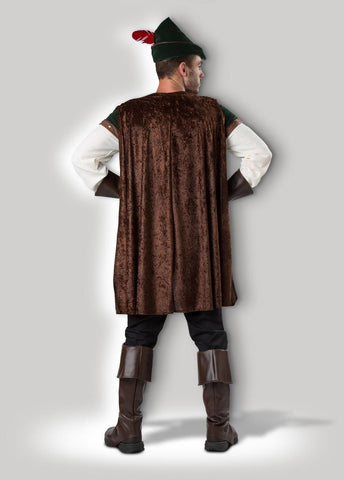 Robin Hood Sherwood Archer Hero Mens' Medieval Hire Costume back
